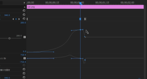 トランジションをベジェ曲線で編集⑥